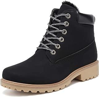 Ankle Boots for Women Low Heel Work Combat Boots Waterproof Winter Snow Boots