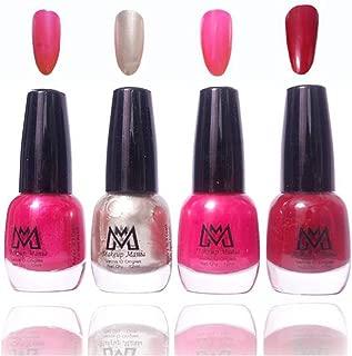 Makeup Mania Premium Nail Polish Exclusive Nail Paint Combo (Pink, Silver, Magenta, Red, Pack of 4)