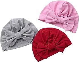 Tukistore Sombrero Hecho Punto del beb/é del ni/ño del Estiramiento el/ástico Turbante Gorra Suave del Sombrero de Bohemia Headwrap Cintas para beb/és reci/én Nacidos ni/ñas