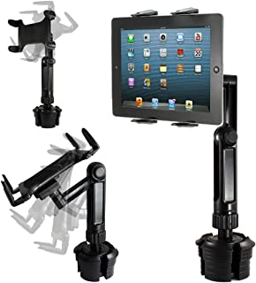 """ChargerCity Xtreme Tablet Drinks Beverage Cup Holder Mount w/10inch Long Arm & 360º Swivel Adjust for All 7""""-12"""" Screen Ta..."""