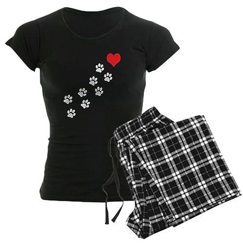 be6bf4945656 CafePress - Paw Prints to My Heart - Womens Novelty Cotton Pajama Set,  Comfortable PJ