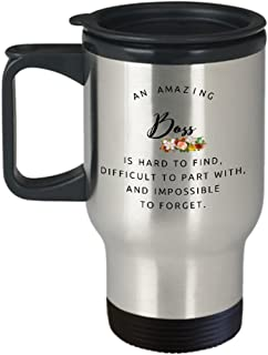Coworkers Colleague Boss best travel mugs coffee tea cup gifts funny friend Retirement Goodbye Leaving Farewell For Going Away Thank You leave work send off amazing Go insulated big large