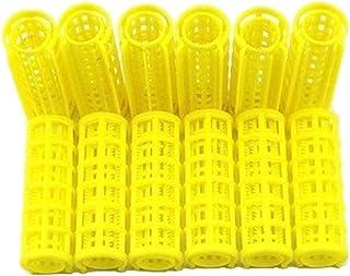 プラスチックDIYヘアローラーカーラークリップヘアスタイリング(12個)