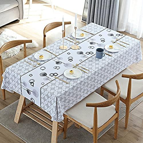 Grå bordsduk tvättbar bordsduk torka ren bordsduk vattentålig rektangulär bordsduk kök matbord dekoration bordsskydd grå maskros 80 x 130 cm
