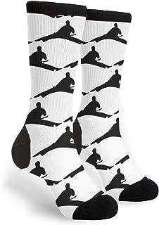 PeiZhengYuanLin-Shop, Calcetines Altos Taekwondo Unisex Novedad Divertidos calcetines de vestir Calcetín 40CM