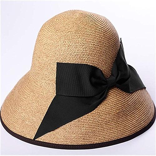 Unisexe Chapeau de soleil pour femme réversible à grand rebord, capuchons de prougeection UV, chapeaux de paille pliables et compressibles, casquette de plage, crème solaire, écran pliable Chapeau parfa