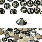144 pcs Black Diamond (215) Swarovski 2058 Xilion/ NEW 2088 Xirius 12ss Flat backs Rhinestones 3mm ss12