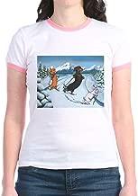 CafePress Ski Dachshunds Jr. Ringer T Shirt Ringer T-Shirt