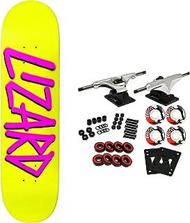 Deathwish Skateboard Complete Lizard King Gang Name Yellow/Purple 8.25