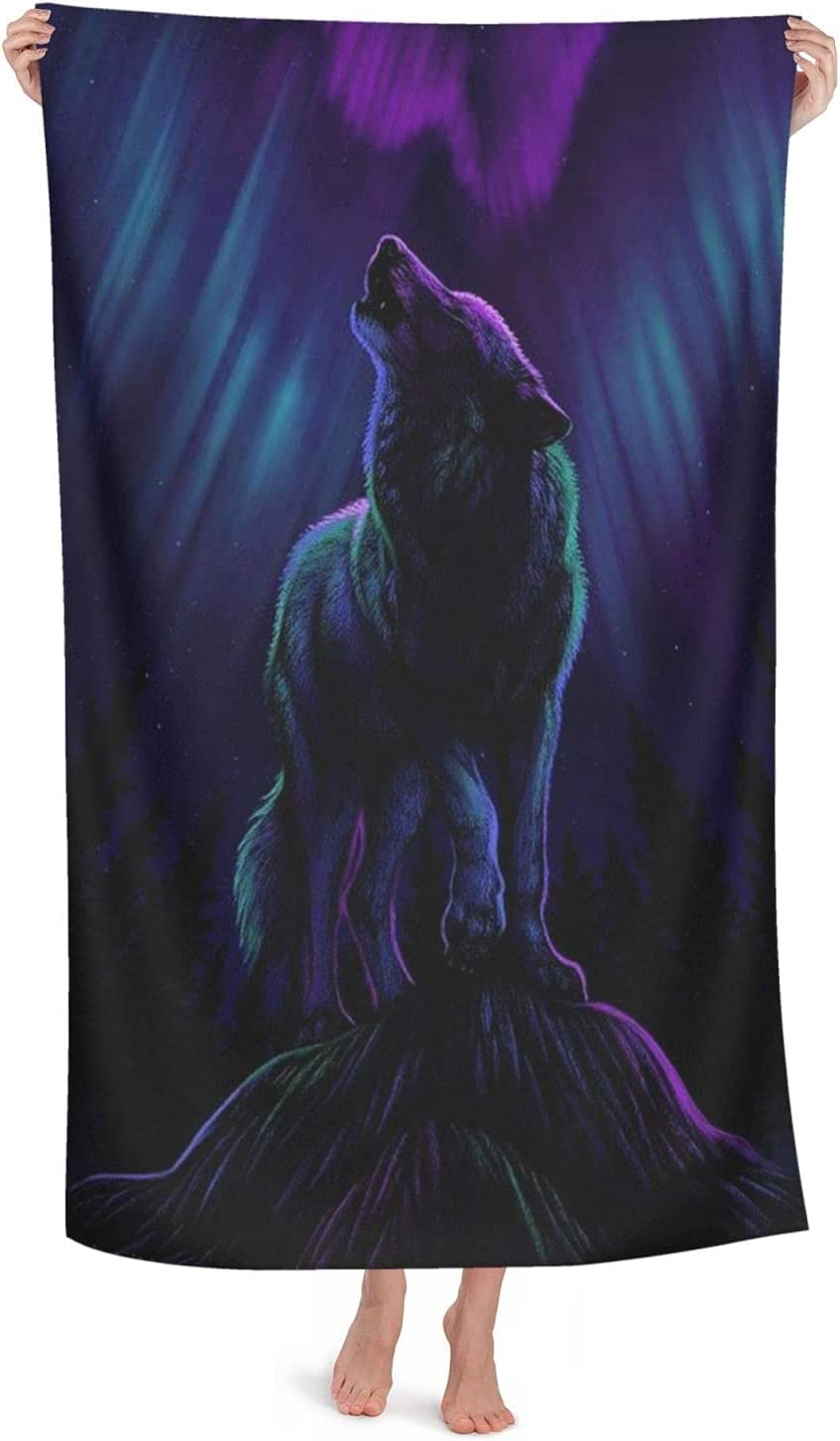 Spirit Wolf Financial sales sale Art Beach List price Towel Sports Dry Backp Camping Quick