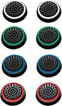 Dongguo 4 Pairs 8 Pcs Silicone Cap Joystick Thumb Grip Protect Cover for Ps3 Ps4 Xbox 360 Xbox One Wii U Game Controllers