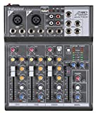 Audio2000'S AMX7303 Professional Four-Channel Audio Mixer with USB and...