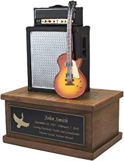 Perfect Memorials Custom Engraved Small Electric Guitar Cremation Urn