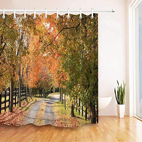 Bathroom Curtains Bath Curtain Vermont Country Road Autumn Home Hotel Bathroom Shower Curtains 152 X 183 cm