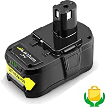 18V 6.0Ah P108 Battery for Ryobi One Plus Lithium ion battery P102 P103 P104 P105 P107 P108 P109 P122 Cordless Power Tools
