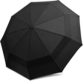 DORRISO Men Women Automatic Folding Umbrella Extra Strong Windproof Sunscreen Portable Compact Travel Business Sun Umbrella