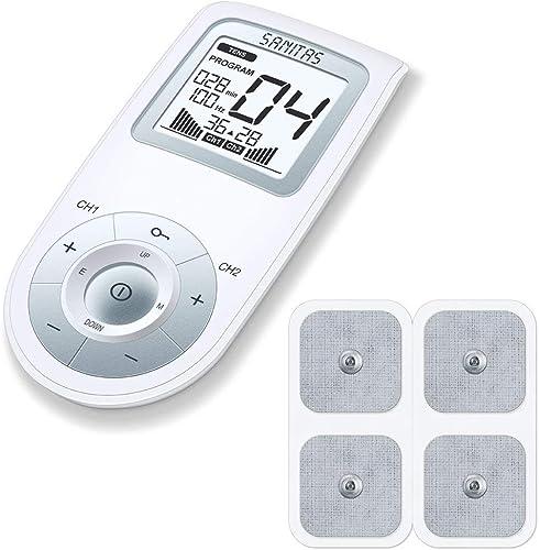 Appareil d'électrostimulation numérique EMS / TENS Sanitas SEM 43 pour le soulagement de la douleur, la stimulation m...