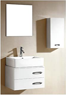 Dawn UN7805-01 Vanity Set with Sink Top, Cabinet, Side Cabinet and Mirror