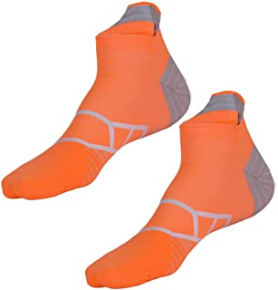 Toes&Feet Men's Cushioned Low-Cut Anti Blister Quarter Compression Running Cycling Socks