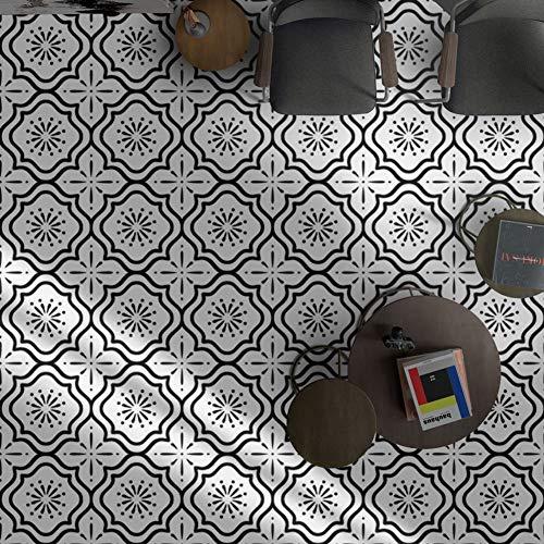 PVC-Wasserdichte Selbstklebende Fliesen-Aufkleber, Küchen-Boden-Wohnzimmer-dekorative Wand-Abnutzung starkes rutschfestes,30 * 30cm*10pcs