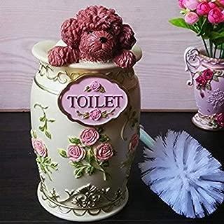 Eskyshop Elegant Vintage Poodle Dog Toilet Brush and Holder with Brush (Poodle)