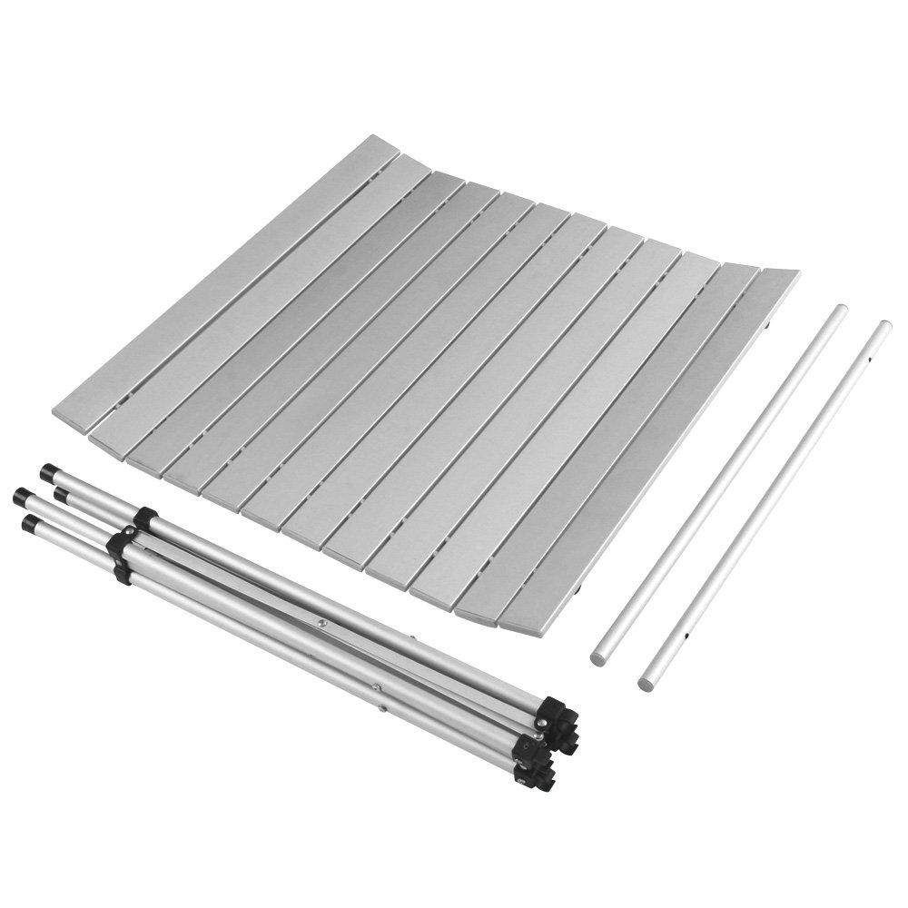 MIADOMODO - Mesa de Aluminio Plegable Aprox. 70 x 70 x 70 cm: Amazon.es: Hogar