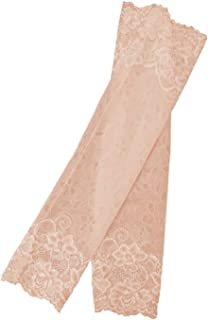Lyndon Bethune 1 Pair 38cm One-Piece Anti-UV Elastic Indoor Outdoor Casual Travel Protective Bracers Lace Floral Breathable Women Arm Sleeve