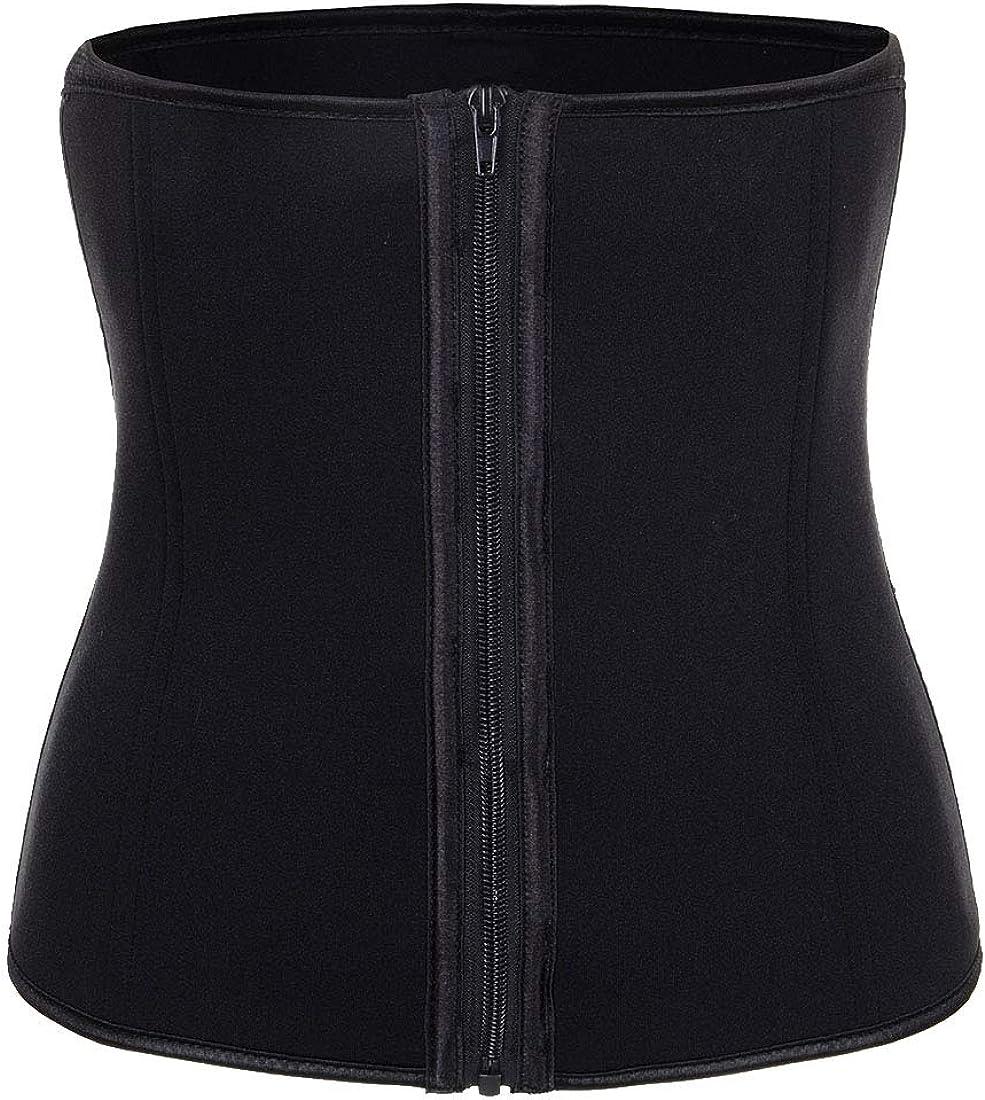 Women's Neoprene Max 77% OFF Adjustable ZipHook Waist Fat Bur Tummy Cincher Sale item