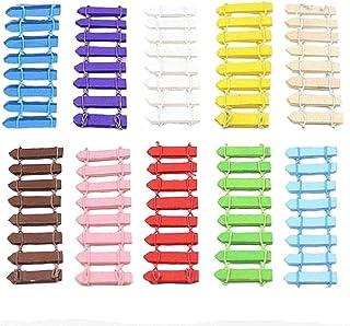 Stonges 20 Unids Mini Madera Valla de Estacas Miniatura de Hadas Jardín Micro-Paisaje Kits de Accesorios Jardín de la Casa Decoración Al Aire Libre Adornos de Macetas Bonsai DIY Artesanía Decoración
