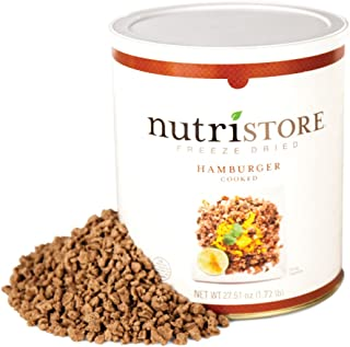 Nutristore Freeze Dried Ground Beef Premium Quality   USDA Inspected   Amazing Taste   Perfect for Camping   Survival Food