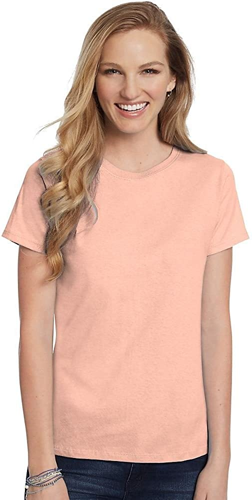 Hanes Womens ComfortSoft Relaxed Fit Jersey Crewneck T-Shirt