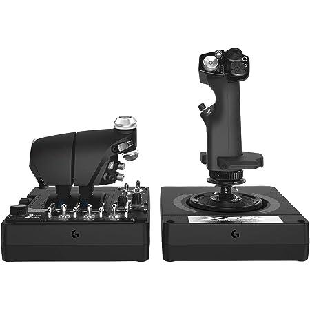 Logitech G X56 H.O.T.A.S Controlador con Aceleración y Palanca RGB, 6 Grados de Libertad, 4 Opciones de Resorte, +189 Controles Programables, RGB, 2x USB - Negro