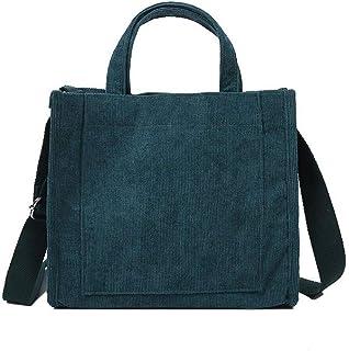 Ulisty Damen Cord Klein Beuteltasche Beiläufig Schultertasche Handtasche Umhängetasche Grün