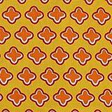 MOORE DENIM Popeline Baumwollstoff Sterne gelb-orange,