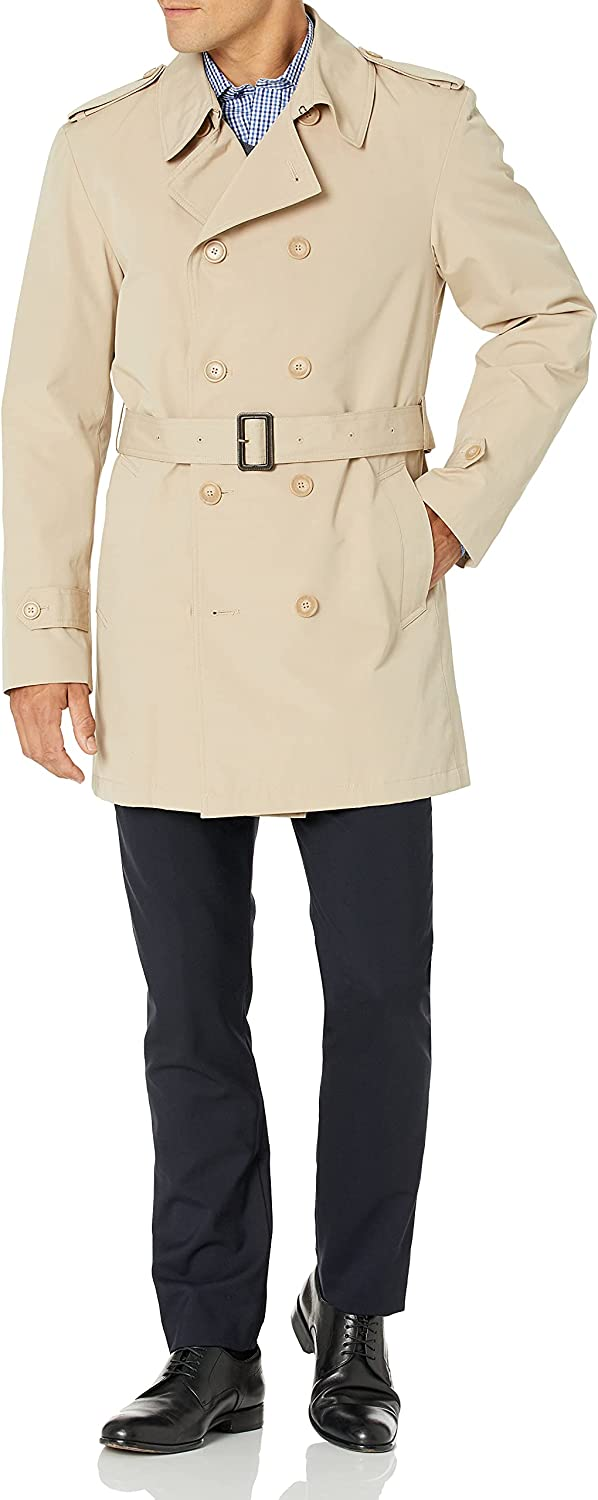 Stacy Adams Men's Big-Tall Strike Double Breasted Raincoat