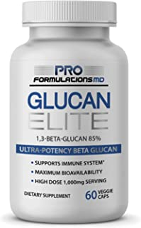 Glucan Elite – 85% Beta 1,3D Glucan 500mg - 60 vcaps - Ultra-Potency Beta Glucan – Highest Bioavailability with BGF-Immune...