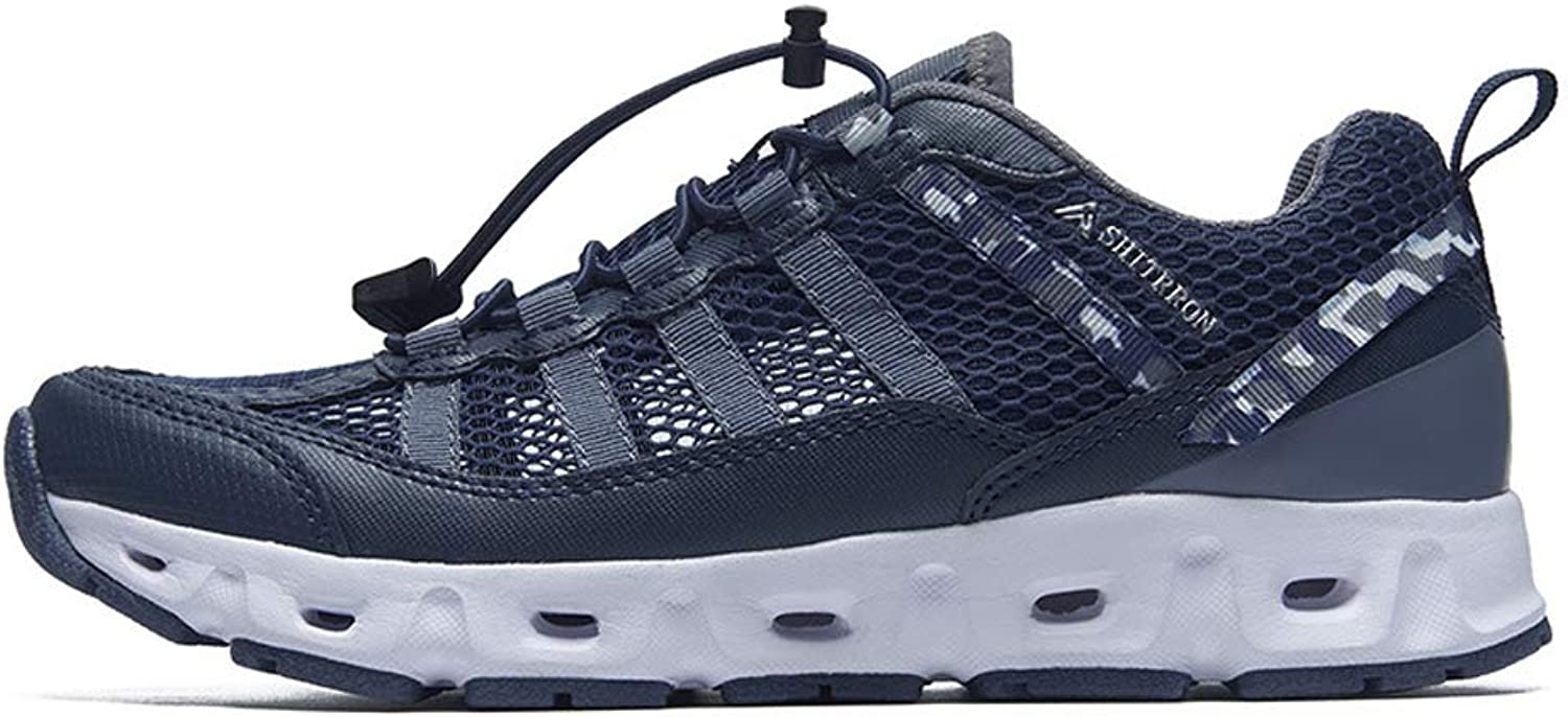 ZFLIN Sports shoes Outdoor Hiking Flying Woven Running shoes Men's Lightweight Non-Slip sneakers-bluee-43