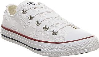 938585c0 Converse Chuck Taylor All Star Broaderie Anglias Ox Blanco Textil Jóvenes  Entrenadores Zapatos