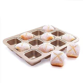 Deutstandard 12-Cup Muffin Pan Non-stick Cupcake DIY Baking Mold Carbon Steel, BPA-free & Dishwasher Safe