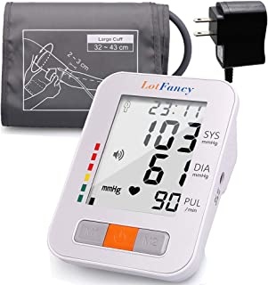 "Lotfancy Blood Pressure Monitor Upper Arm, 2 Users, 180 Readings, Fully Automatic Blood Pressure Machine with Medium Cuff 13""-17"", Digital BP Meter with Talking Function & Large LCD Display"