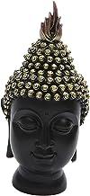 Generic Buddha Head Figurine, Resin Figure Statue for Desktop Study Ornament 9.5x9.5x20cm Buddhism Religious Decoration