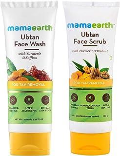 Mamaearth Tan Removal Combo(Ubtan - Face Wash 100ml + Face Scrub 100g)