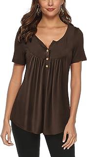 764fdc924848 Amazon.es: Marrón - Camisetas, tops y blusas / Mujer: Ropa