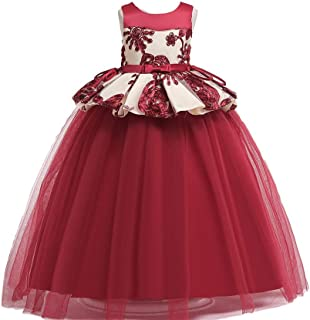 Best Gift Kids Toddler Flower Girls Lace Dress Pageant Wedding Bridal Children Bridesmaid Princess 4-14 years