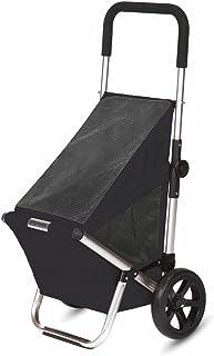 Playmarket GO FUN - Carro de la compra plegable con ruedas, color negro