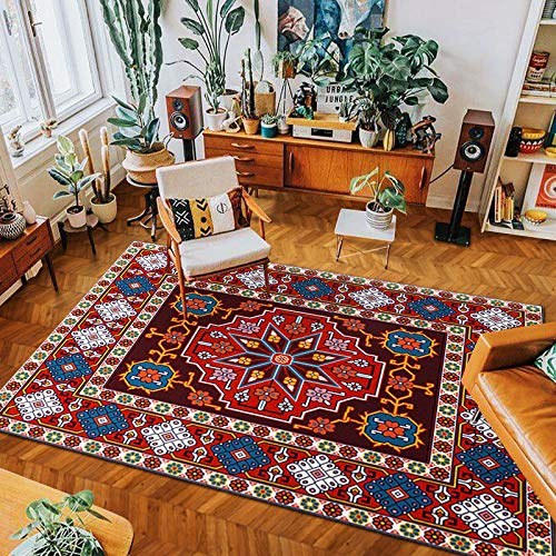 Non-Slip Thick Carpet Bohemian Ethnic Style Suitable For Living Room Large Area Full Carpet Bed And Breakfast Bedroom Blanket Yurt Pad