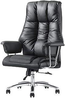 AOLI Ejecutivo silla de oficina - mecedora respaldo alto cuero de la PU Silla de oficina con asiento ajustable y el reposapiés Altura - Silla de escritorio de descanso de ordenador con ergonómico seg