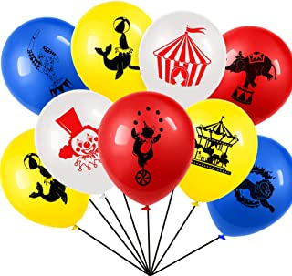 Set of 40 Carnival Circus Animals Balloons Latex For Carnival Party Supplies Favors,Carnival Decoration 12 Inch