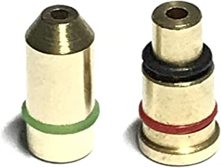 Dual Gas Refill Adapters Compatible with ST Dupont Lighter Line 1/2 Red/Green Cap