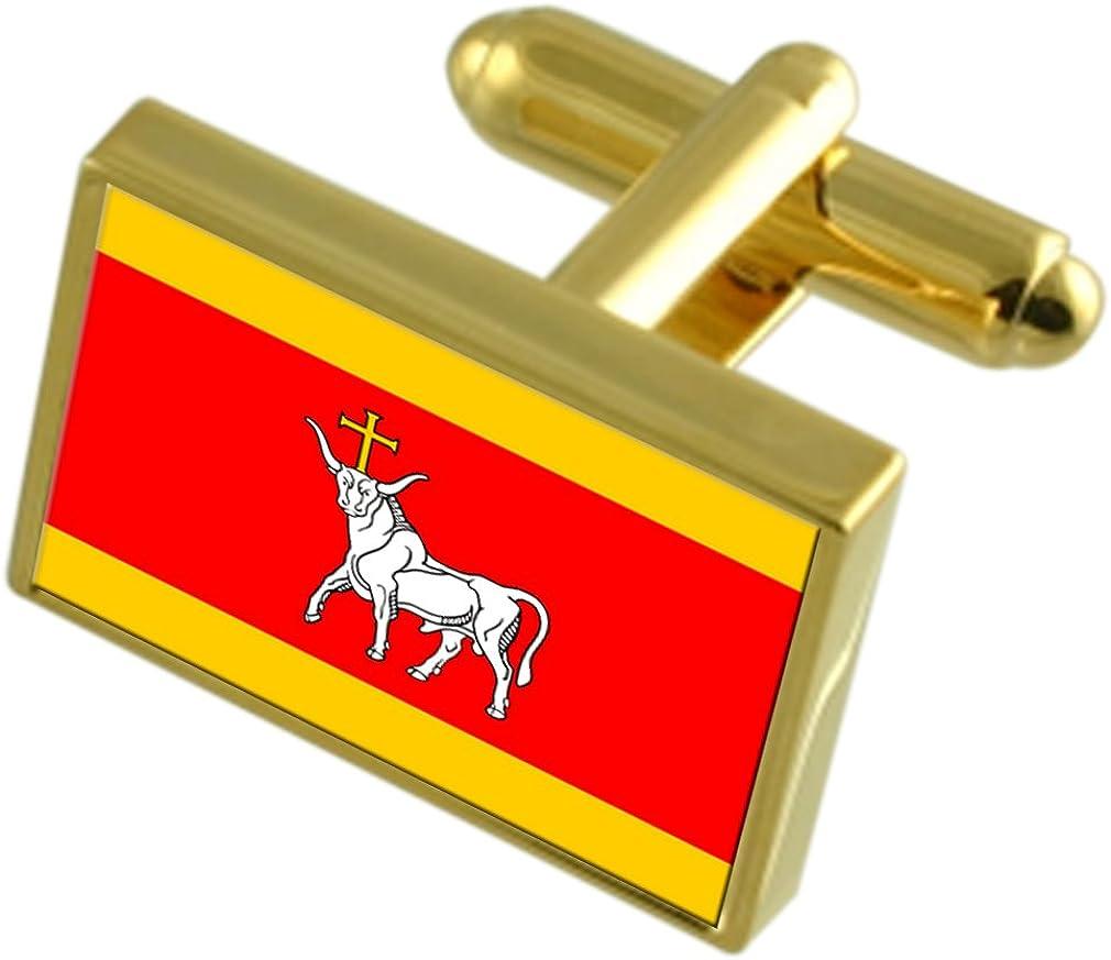 Kaunas City Lithuania Cufflinks Flag store Animer and price revision Gold-tone
